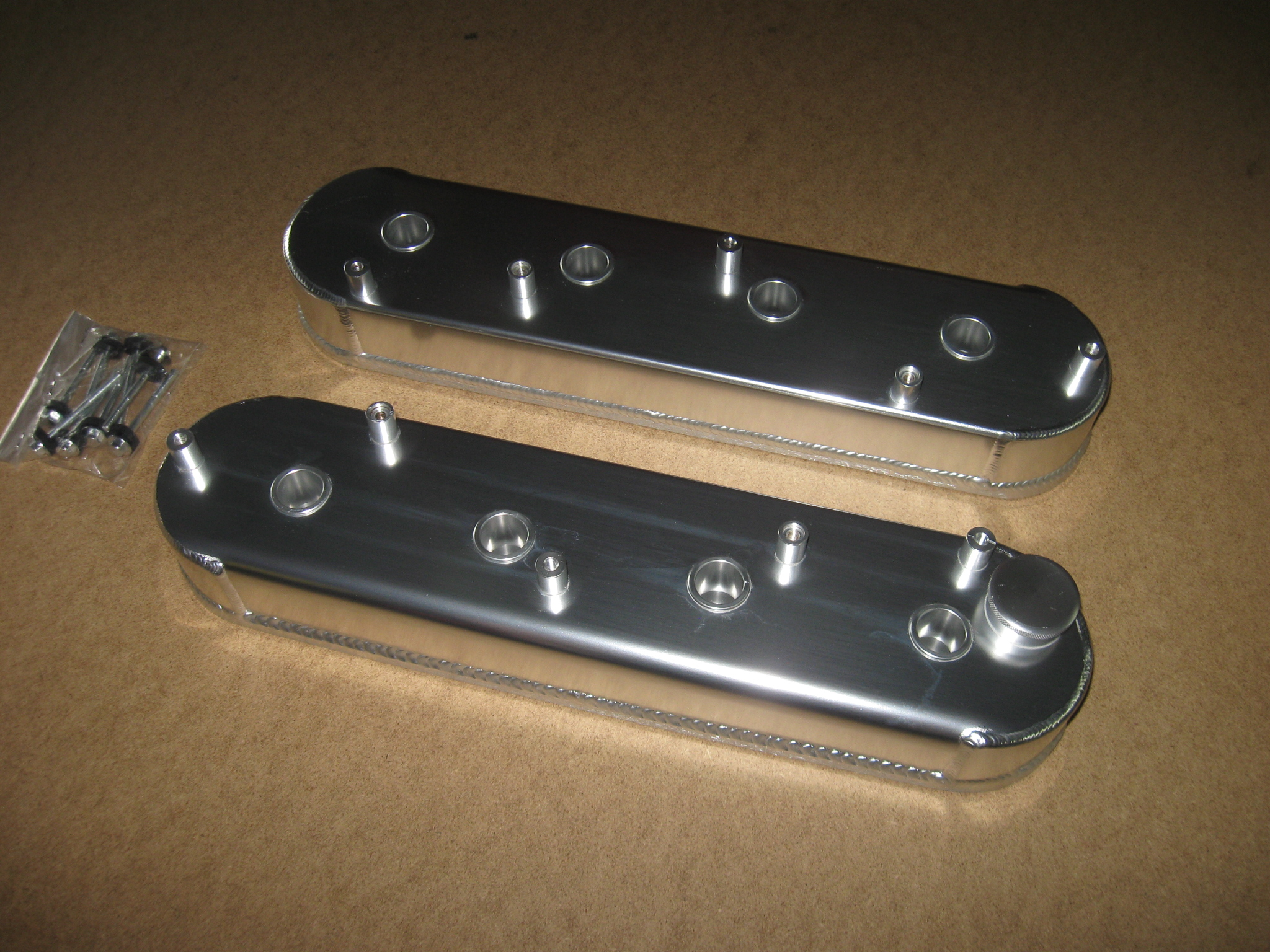 Ls1 Ls3 Ls6 Fabricated Aluminum Valve Covers Clear Anodized