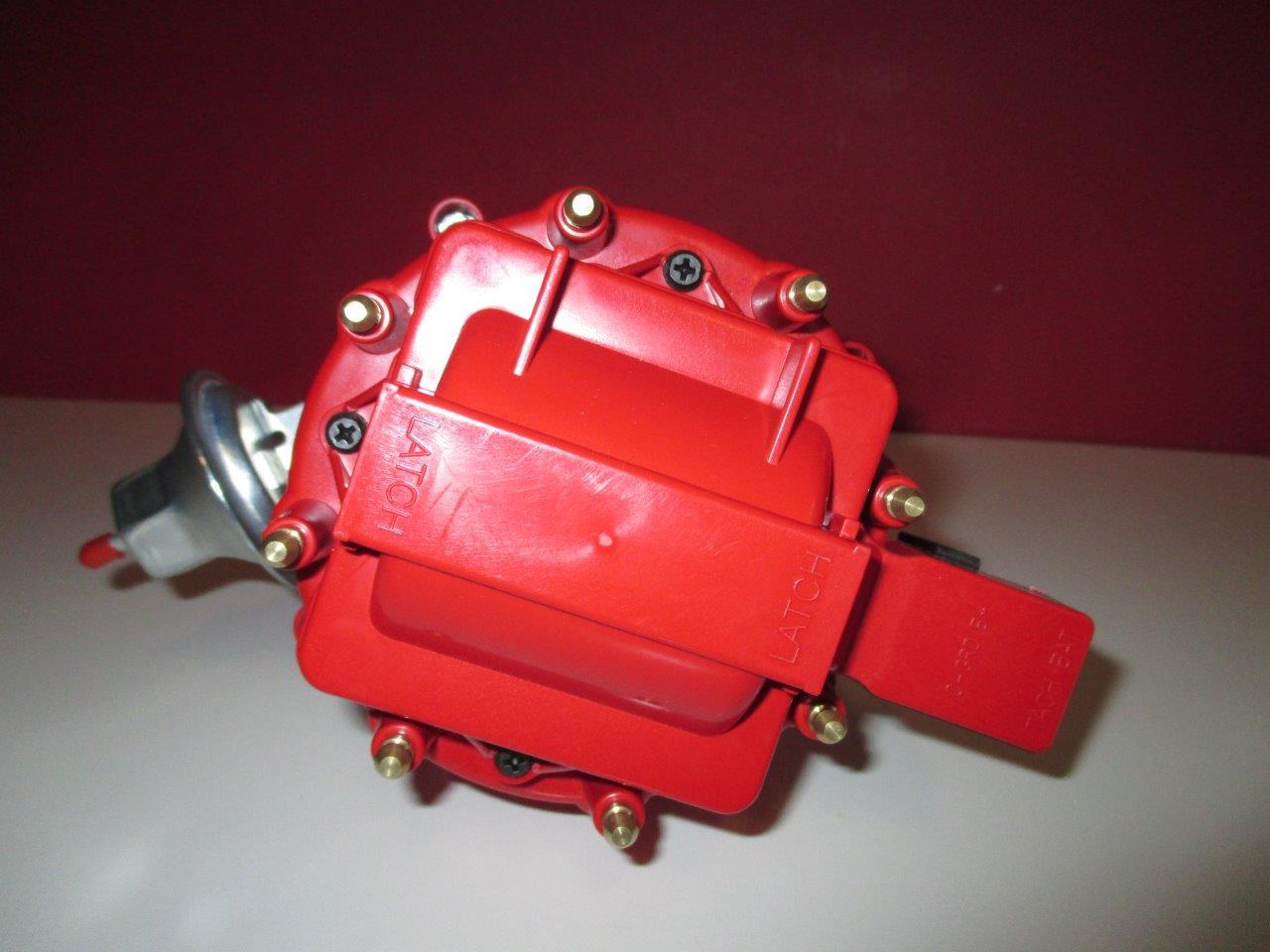 Chevy 348 409 Hei Distributor W 50k Volt Coil Red Cap Warr