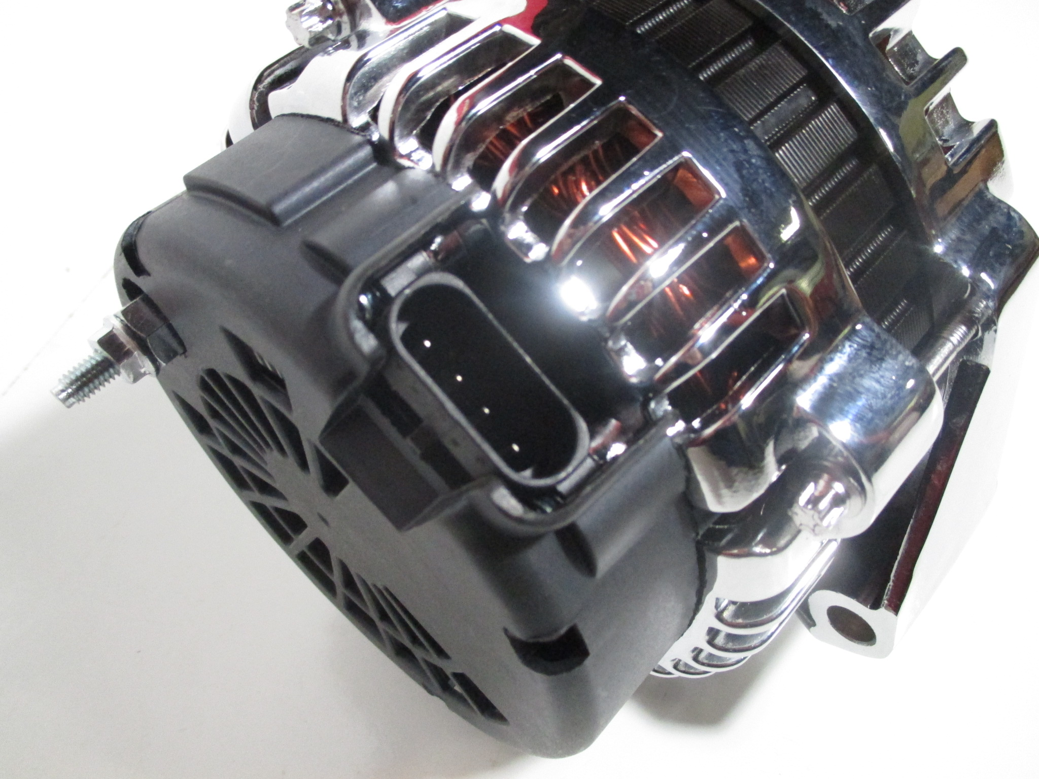 High Output Gm Alternator F Body Ls1 Or Trucks 180 Amp Chrome Gauge Wiring Cs130d Style