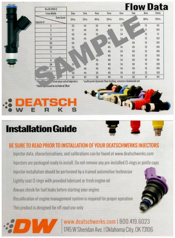 Deatschwerks 90lb (950 cc) Fuel Injectors #16U-00-0090-8