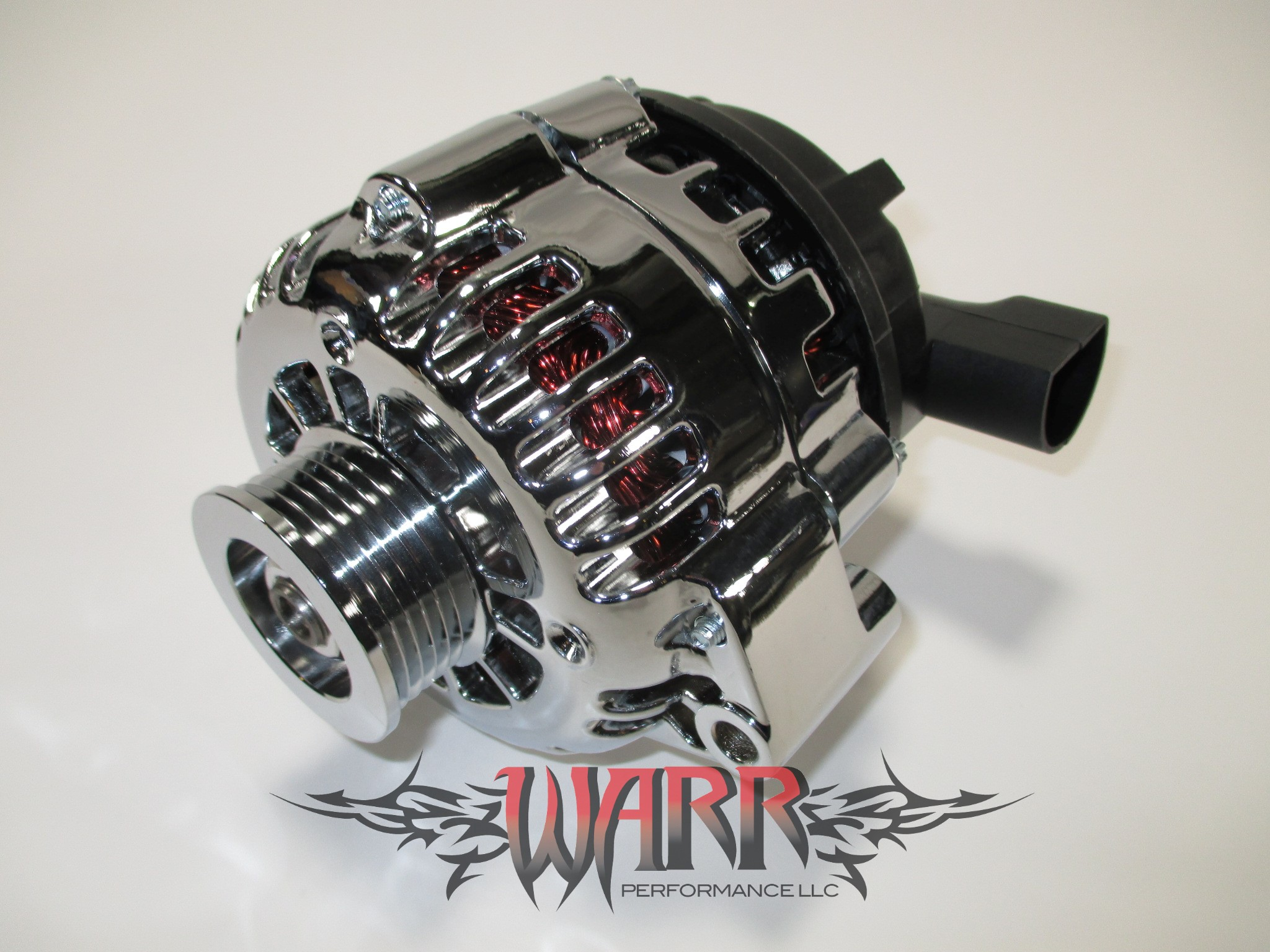 High Output GM Alternator - F Body LS1 LS6- 180 amp Chrome - CS130D Style  Chrome