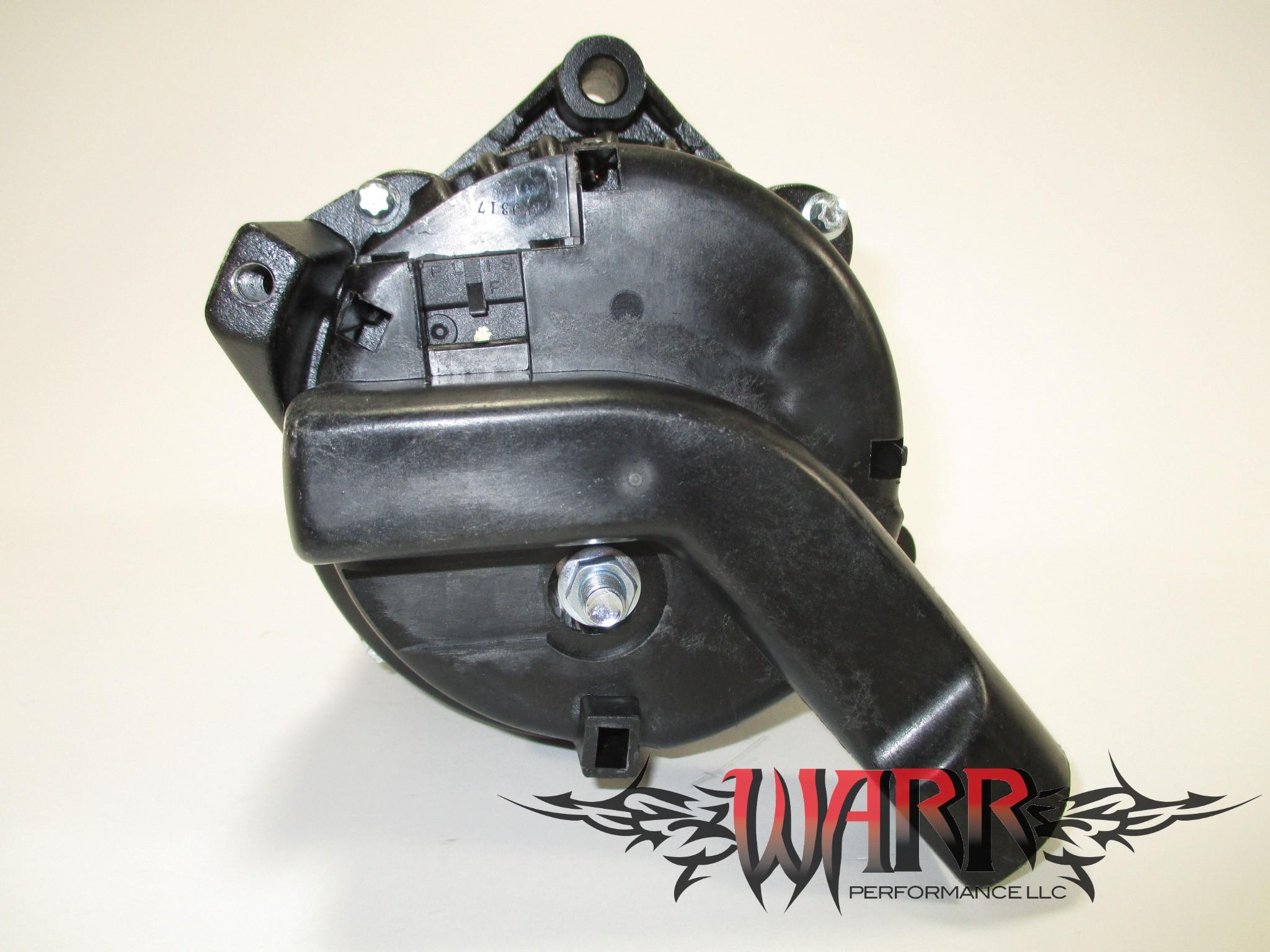 High Output GM Alternator - F Body LS1 LS6- 180 amp - Black - CS130D Style  Chrome
