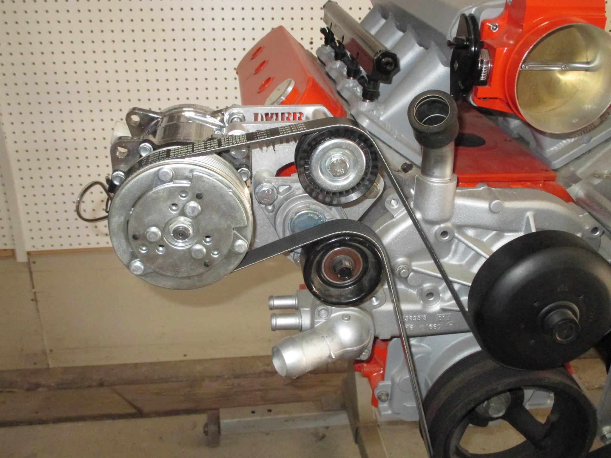 LS Sanden 508 style AC Compressor Brackets - Truck Spacing