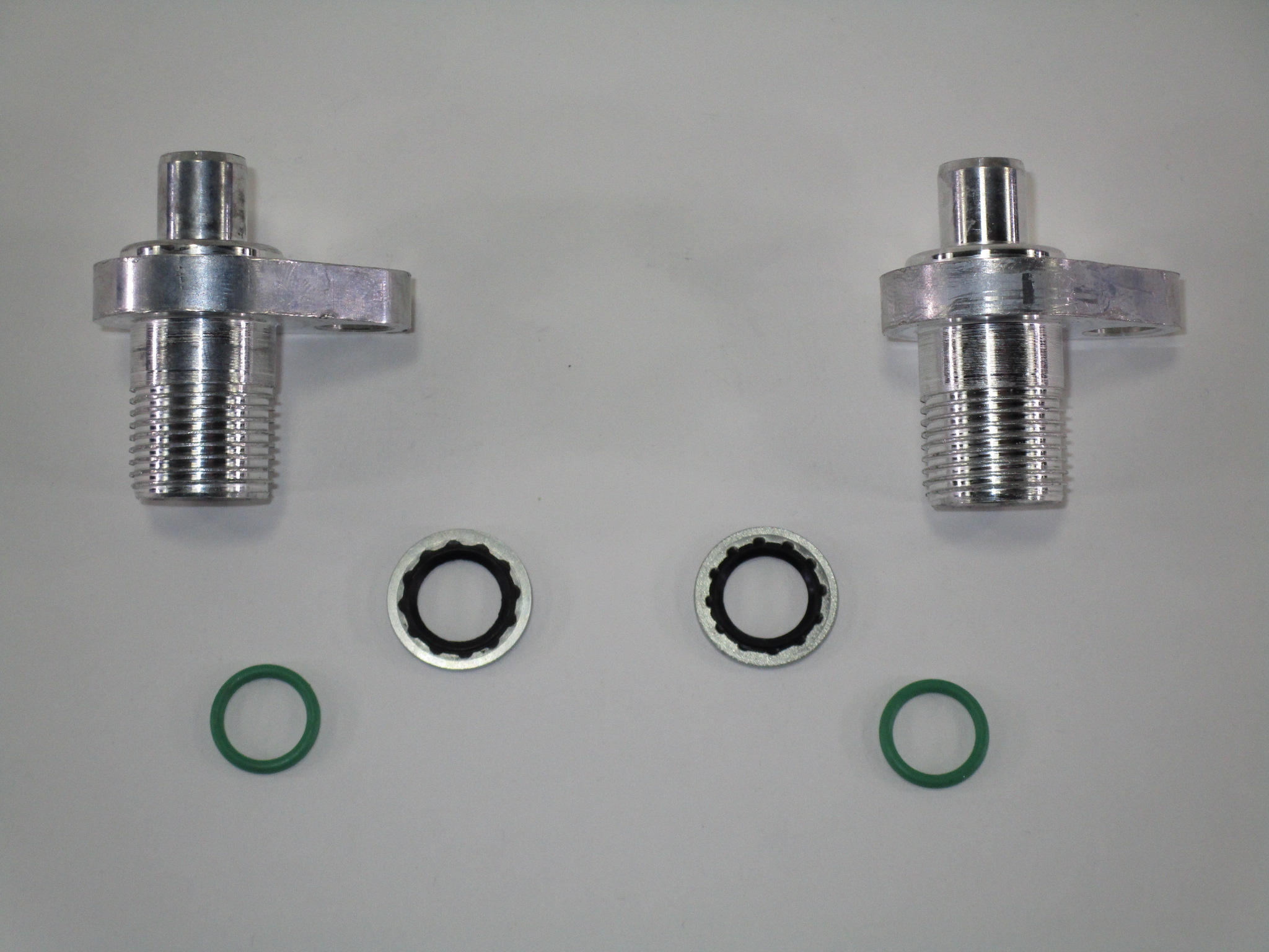 LS Swap AC condenser adapter fittings - 2 #8 fittings